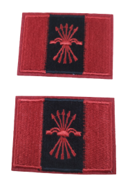 Pack 2 Parches Termoadhesivos Bandera Falange 5,7x3,7cm