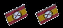 Pack 2 Pins de Solapa Bandera España Lema Tercios de Flandes 18x11mm