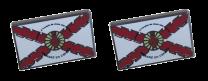 Pack 2 Pins de Solapa Detente Sagrado Corazon Aspa Borgoña 18x11mm