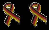 Pack 2 Pins de Solapa Lazo Bandera Alemania Ribbon Flag Germany 30x25mm