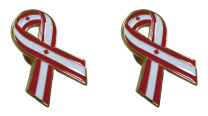 Pack 2 Pins de Solapa Lazo Bandera Canada Ribbon Flag Canada 30x25mm