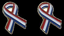 Pack 2 Pins de Solapa Lazo Bandera Holanda Ribbon Flag Holland 30x25mm