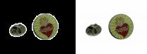 Pack 2 Pins de Solapa Sagrado Corazon de Jesus 16mm