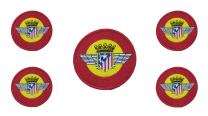 Pack 5 Parches Escarapela Atletico Aviacion 7,5cm