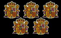 Pack 5 Parches Escudo Estado Español 7x6cm