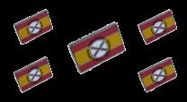 Pack 5 Pins de Solapa Bandera España Lema Tercios de Flandes 18x11mm