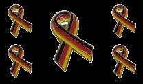Pack 5 Pins de Solapa Lazo Bandera Alemania Ribbon Flag Germany 30x25mm