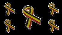 Pack 5 Pins de Solapa Lazo Bandera Belgica Ribbon Flag Belgium 30x25mm