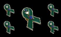 Pack 5 Pins de Solapa Lazo Bandera Brasil Ribbon Flag Brazil 30x25mm