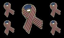 Pack 5 Pins de Solapa Lazo Bandera Estados Unidos Ribbon Flag USA 30x25mm
