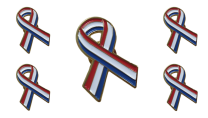 Pack 5 Pins de Solapa Lazo Bandera Holanda Ribbon Flag Holland 30x25mm