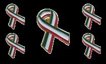 Pack 5 Pins de Solapa Lazo Bandera Italia Ribbon Flag Italy 30x25mm