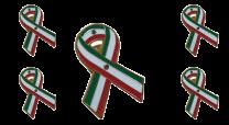 Pack 5 Pins de Solapa Lazo Bandera Mejico Ribbon Flag Mexico 30x25mm