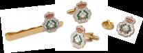 Pack Completo de Gemelos de Camisa Pasador y Pin del Escudo de la Escuela Naval Militar 18 mm