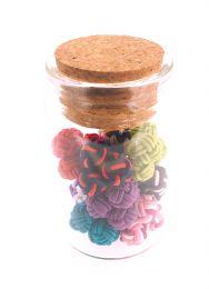 Pack de 10 pares de Gemelos Elásticos Borla Colores Variados