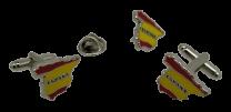Pack Gemelos y Pin Bandera España Mapa 17x14mm