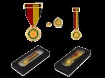 Pack Medalla Conmemorativa Operacion Balmis - Medalla, Miniatura y Pin
