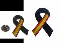 Pack Parche y Pin Lazo Negro España Black Ribbon Spain