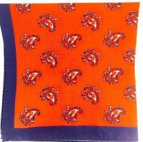 Pañuelo de Bolsillo HUGO de Seda Pura Rojo y Marino 50333594 33x33 cm