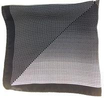 Pañuelo de Bolsillo HUGO de Seda Negro y Blanco 50333629 33x33 cm