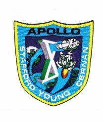 Parche Bordado Hook and Loop Apollo 10 8,5x8cm