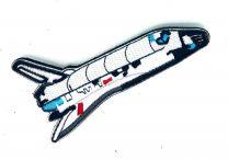 Parche Bordado Hook and Loop Cohete NASA 10x5cm