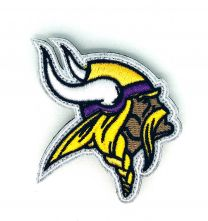 Parche Bordado Hook and Loop Minnesota Vikings 7x6cm