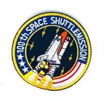 Parche Bordado Hook and Loop NASA 100th SPACE SHUTTLE MISSION 8cm