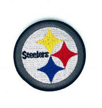 Parche Bordado Hook and Loop Pittsburg Steelers 6cm