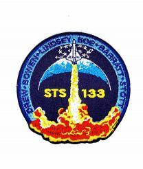 Parche Bordado Hook and Loop STS 133 Nasa 8cm
