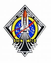 Parche Bordado Hook and Loop STS 135 Nasa 11x9cm