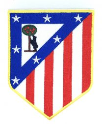 Parche Bordado Termoadhesivo Atletico de Madrid Escudo Antiguo 7x5,5 cm