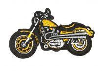 Parche Bordado Termoadhesivo Harley Davidson Amarilla 9,5x5cm