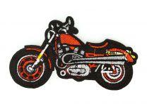 Parche Bordado Termoadhesivo Harley Davidson Rojo 9,5x5cm