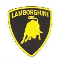 Parche Bordado Termoadhesivo Lamborghini 8x6cm