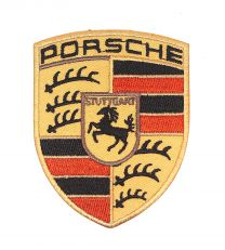 Parche Bordado Termoadhesivo Porsche 8x6cm