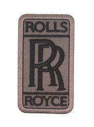 Parche Bordado Termoadhesivo Rolls Royce 8x4,5cm