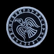 Parche Cuervo Raven Futhark 7 cm Termoadhesivo