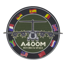 Parche Hook and Loop Nylon 3D A400M Defense and Space 9cm