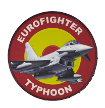 Parche Hook and Loop Nylon 3D Eurofighter Typhoon 8,5cm