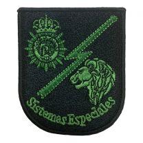 Parche Hook and Loop Sistemas Especiales Policia Nacional 8,5x7,3cm