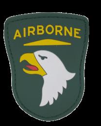 Parche Hoop and Loop PVC 101 US Airborne 8x6,5cm