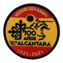 Parche Termoadhesivo 100 aniversario de la Gesta de Alcantara 7cm