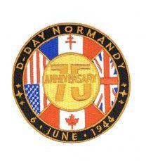 Parche Termoadhesivo 75 Aniversario Normandia Día D 9 cm