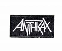 Parche Termoadhesivo Anthrax white 8x4cm