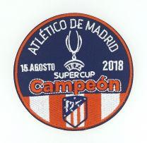 Parche Termoadhesivo Atlético de Madrid Super Copa de Europa League 2018 9cm