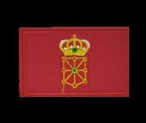 Parche Termoadhesivo Bandera Comunidad Foral de Navarra 7,5x5cm