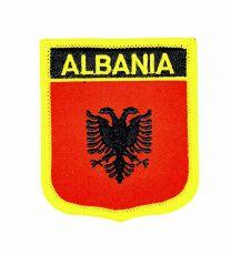 Parche Termoadhesivo Bandera escudo Albania 7x6 cm
