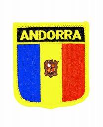 Parche Termoadhesivo Bandera escudo Andorra 7x6 cm