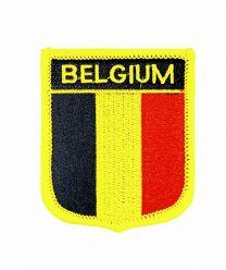Parche Termoadhesivo Bandera escudo Belgica 7x6 cm
